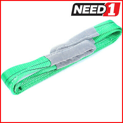 LIFT SAFE 2T x 2M Flat Lifting Sling 100% Polyester c/w Test Certificate