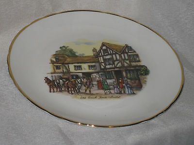 Tuscan Fine Bone China Plate Old Coach House Bristol England