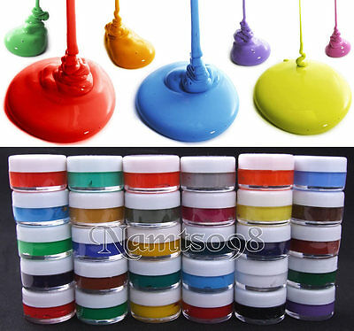 Set Of 30 X 7ml Acrylics Painting Sample Jar/Assorted Colors/Canvas Paper Fabric