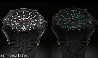 German Military Watch KHS Sentinel Black Eagle C1 Luminous Date Mens Watches