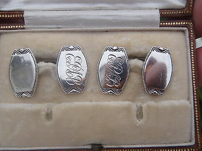 Boxed Art Deco 1926 Henry Griffith & Sons Chester 6grams sold silver cuff links