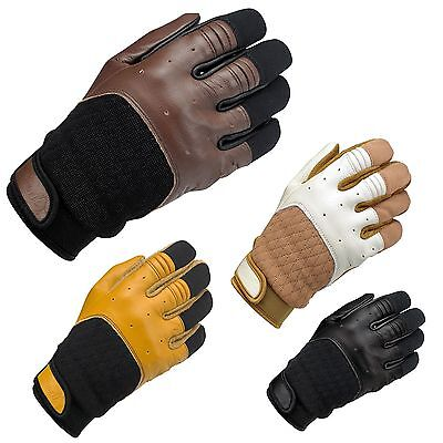 Biltwell Bantam Leather Cruiser Custom Cafe Racer Retro Motorcycle Gloves