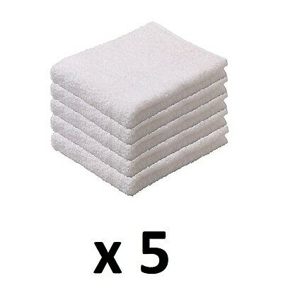 5 x IKEA NÄCKTEN 100% Cotton White Guest Terry Hand Towels Bath Home Hotel