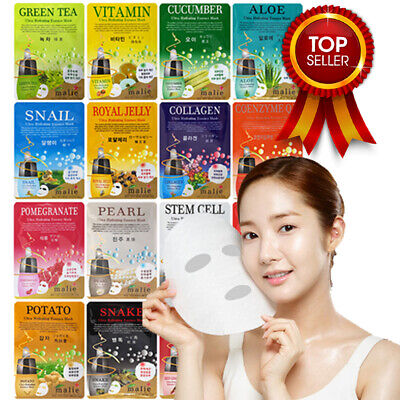 Malie Korean Face Mask Sheet Pack Facial Mask Moisture Skin Care  **UK Seller**