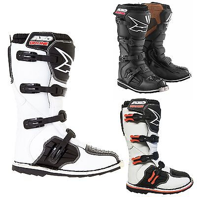 Axo Drone Motocross MX Boots Black White Limited Edition