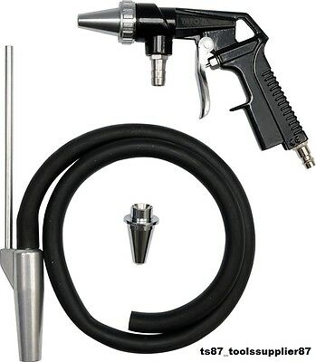 NEW AIR SAND BLASTER GRIT SHOT SANDBLASTER GUN KIT REMOVING RUST YATO x2 NOZZLES