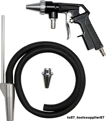 New Air Sand Blaster Blasting Grit Shot Sandblaster Gun Kit Removing Rust