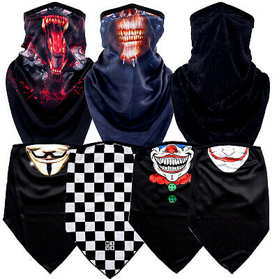 Motorcycle Neck Warmer Tube Biker Snood Scarf Face Mask Bandana Balaclava Shield