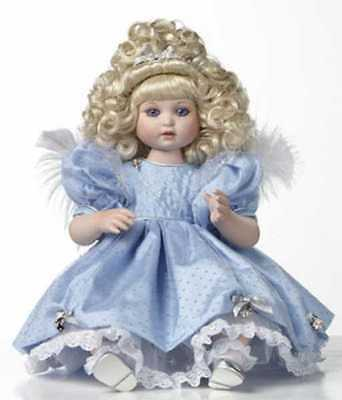 "NIB Marie Osmond Fine Porcelain Collector Doll New Millennium ""Angel Baby"""