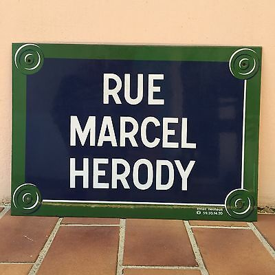 French Street Enamel Metal Sign Plaque - RARE Style Like Paris