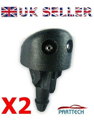 RENAULT CLIO MK2 FRONT WINDSCREEN WASHER JETS NOZZLE WATER SPRAY JET X2 new