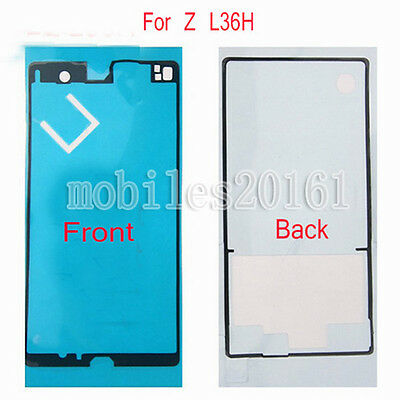 Touch Screen Front+Back Adhesive Sticker Glue Tape For Sony Xperia Z L36H C6603