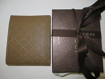 GUCCI  Men's NEW Diamante soft calf leather  Wallet. Retail $438