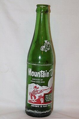 Vintage Mt. Dew 10 oz Bottle Filled by Mable and Mike