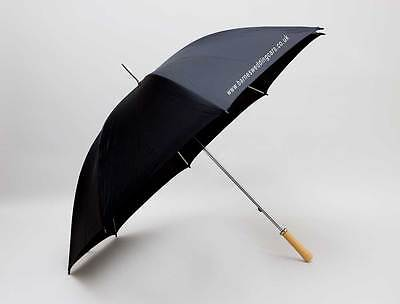 Personalised New Very Large Black Golf Men's Umbrella