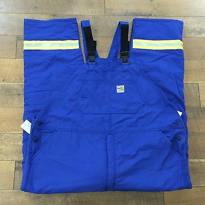 New CARHARTT Men's FLAME RESISTANT SAFETY DUCK BIB OVERALL QUILT LINED 50x36 NWT
