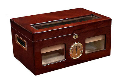 VALENCIA Cigar HUMIDOR with Analog Hygrometer - Holds up to 120 Cigars