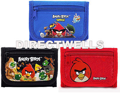 Angry Birds Rovio Authentic Licensed Trifold Children Wallet