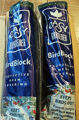 Lot of 2 Easy Gardener BirdBlock Mesh Netting 14' x 14' Protective NEW Birds