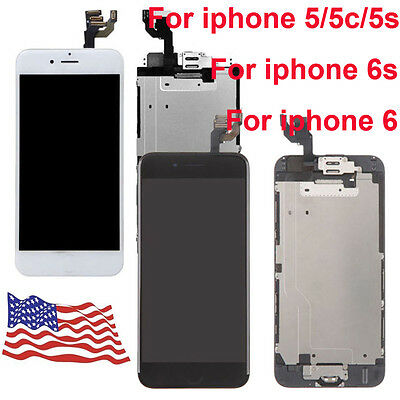 OEM For Iphone 5G 5C 5S 5 LCD LensTouch Screen Digitizer Assembly Replacement
