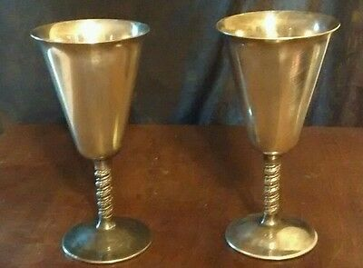 Set of 2 fb rogers silverplate Yugoslavia goblets