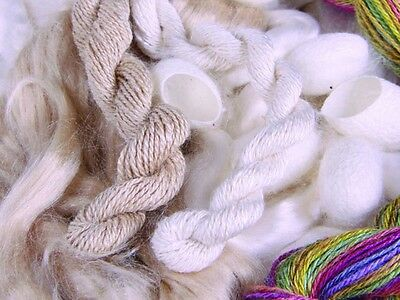 Ashford Tussah Silk Sliver 100g Luxury Fibre for Spinning