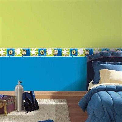 "Spongebob Squarepants ~ Removable Peel & Place Wallpaper Border ~ 5"" x 15'"