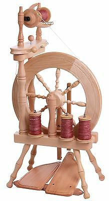 Ashford Traveller Double Treadle Single Drive Spinning Wheel Natural TVDTS