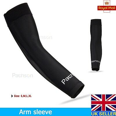 New Mens Compression Arm Sleeve Elbow Warmers Cycling Biking Thermal Outdoor