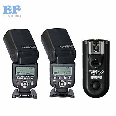 NEW Yongnuo YN560III Flash Kit Speedlight + RF-603II Wireless Trigger for Nikon