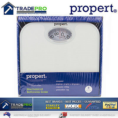Bathroom Scale Mechanical Genuine Propert® PRO Quality Weight Scales White 130kg