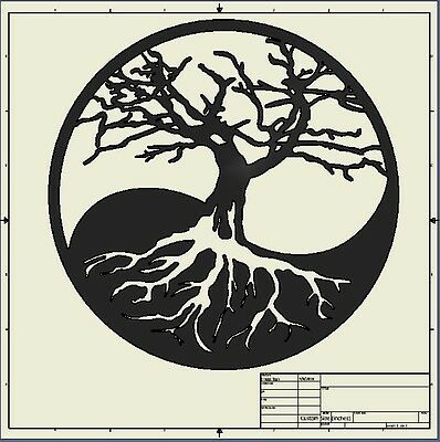 Dxf File ( tree_of_life ) BEST SELLER!!