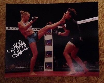 Holly Holm UFC Autographed 8x10 Promo Pic Signed Photograph MMA Rousey