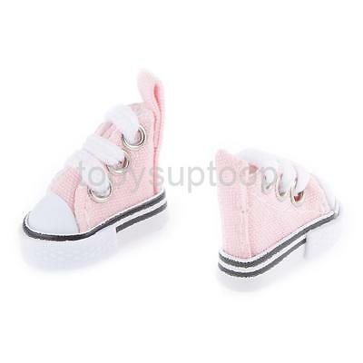 1/6 Pink High Top Lace-up Sneakers Shoes Fit Barbie Blythe Pulip Jenny Doll