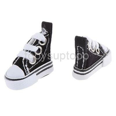 1/6 Black High Top Lace-up Sneakers Shoes Fit Barbie Blythe Pulip Jenny Doll