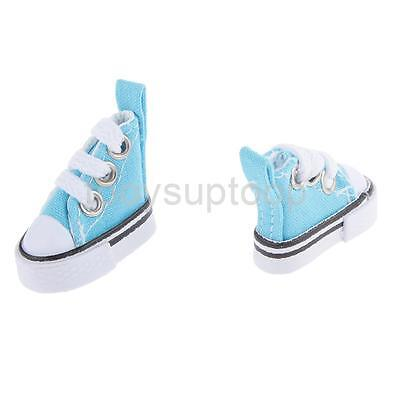 1/6 Blue High Top Lace-up Sneakers Shoes Fit Barbie Blythe Pulip Jenny Dolls