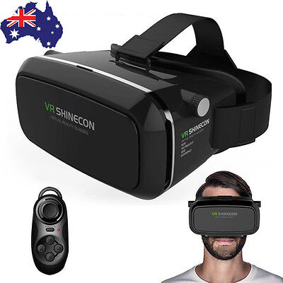 2X VR Box Goggles 3D Virtual Reality Glasses Bluetooth Gamepad ForSamsung iPhone