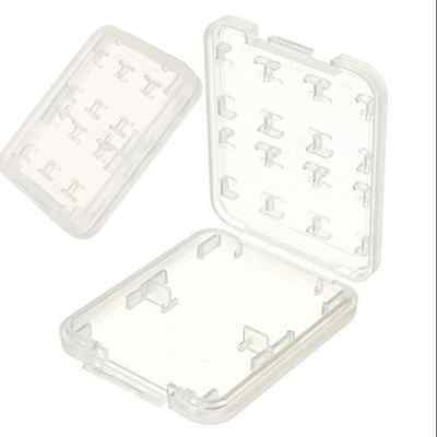 8 Slots 2Pc Plastic Storage Holder Carrying Box Case For Micro SD MS Memory Card