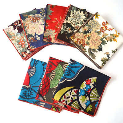 Men Classic Style Floral Handkerchief Pocket Square Wedding Party Hanky Lot