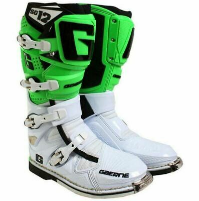 Gaerne Sg12 Green Mx Boots, Motocross, Enduro, Trail & Off Road Boots.