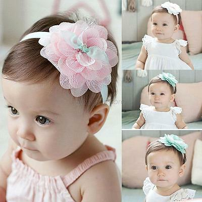 Cute Kids Baby Girl Toddler Lace Flower Headband Hair Band Headwear Accessory