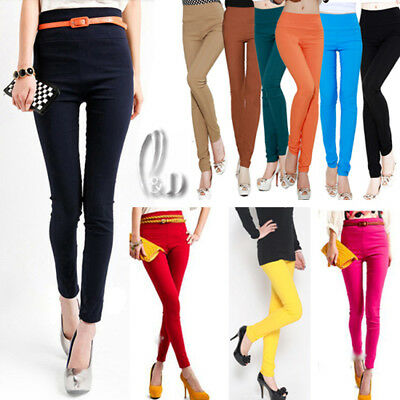 AU SELLER Stretch Leggings Slim pencil Dance Dress pants Multiple colour P085