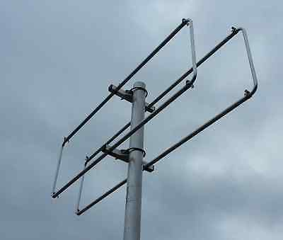 2el 144MHz 2m Quad Style Yagi - Shorter than HB9CV just 14cms long HUGE GAIN