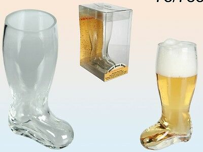 Mini Glass Beer Boot 17Cm Tall Drinking Games Holds 300 Ml Liquid 78/7889