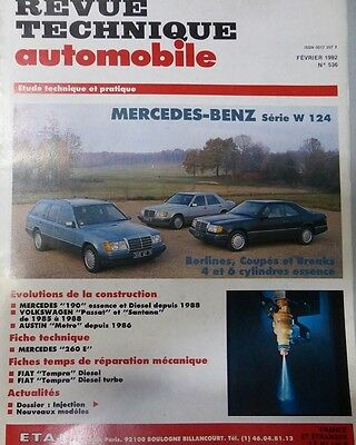 Comme neuf !!! Revue technique MERCEDES W 124 4/6 cylindres essence 200 300