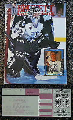 Manon Rheaume, Ticket Stub, The Only Woman To Play In The Nhl. Sept 23 1992