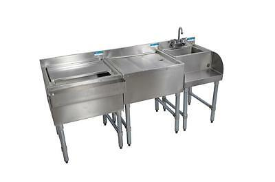 "BK Underbar Work Station, Ice Bin/Drainboard/Blender Station, 54"" Wide"