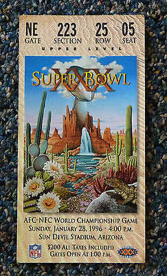 Super Bowl XXX 1996 Authentic Ticket Cowboys vs Steelers Used but in nice shape