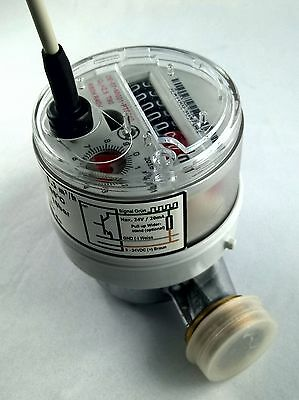 "Volumenmessteil Flowmeter Open Collector  Qn 1,5m³/h 87 Imp./L  3/4""AG 110mm"