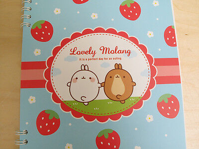 MOLANG Lovely Cute rabbit Bunny Memo Paper Gifts Notebook Notepad - Strawberry
